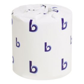 """Boardwalk Two-Ply Toilet Tissue, Septic Safe, White, 4.5"""" x 3.75"""" (500 sheets/roll, 96 rolls)"""