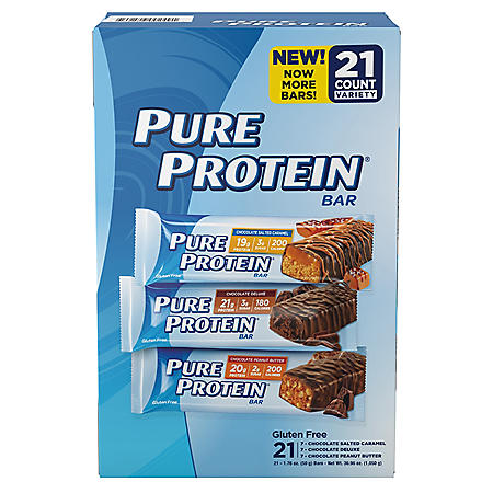 Pure Protein High Protein Bars, Variety Pack (21 ct.)