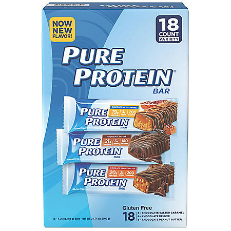 Pure Protein Bar Variety Pack  (1.76 oz.,18 ct.)