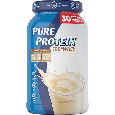 Pure Protein 100% Whey Powder, Vanilla Cream (2.58 lbs.)