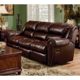 Phenomenal Lane Sidney Leather Double Reclining Sofa Sams Club Customarchery Wood Chair Design Ideas Customarcherynet