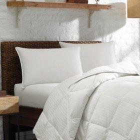 Eddie Bauer 700 Fill Power White Goose Down Plush Top Chamber Pillow Medium - Various Sizes