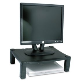 Kantek Single Platform Adjustable Monitor Stand, Black