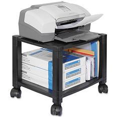Kantek - Mobile Printer Stand, Two-Shelf, 17w x 13-1/4d x 14-1/8h -  Black