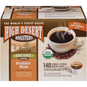 High Desert Roasters Breakfast Blend Single Serve Pods (140 ct.)
