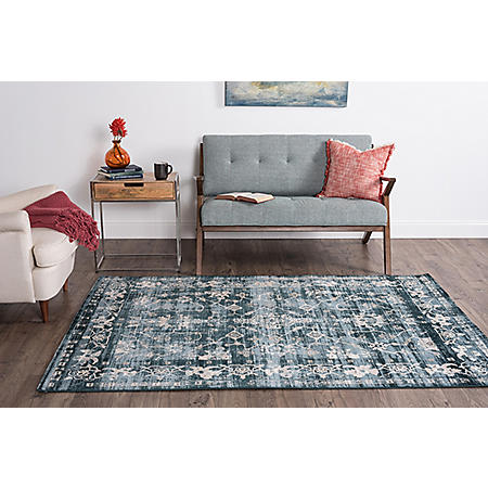 Concept Filigree Area Rug, Blue (Assorted Sizes)