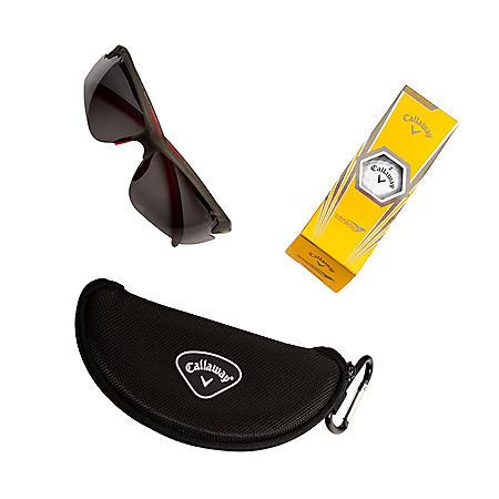 Callaway Polarized Semi-Rimless Sunglasses with Accessories