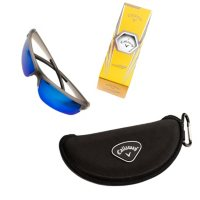 Callaway Polarized Blue Lens, Semi-Rimless Sunglasses with Accessories