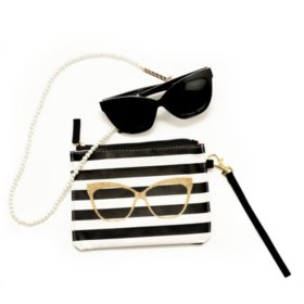 Betsey Johnson Cateye Rx-able Sunglasses with Accessories