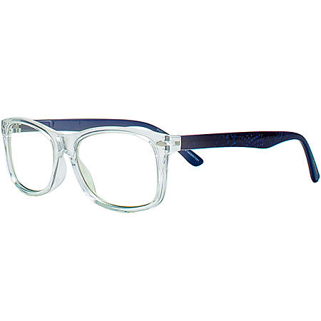 Robert Graham Modern Americana Blue Light Blocking Glasses with Cloth and Pouch, Clear