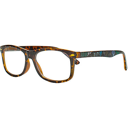 Robert Graham Modern Americana Blue Light Blocking Glasses with Cloth and Pouch, Brown