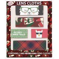 No Probllama Holiday Lens Cloths (5 pk.)