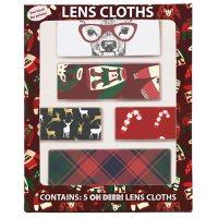 Oh Deer! Holiday Lens Cloths (5 pk.)