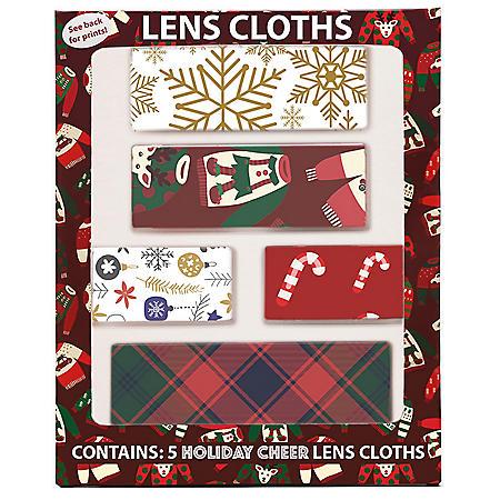 Holiday Cheer Lens Cloths (5 pk.)