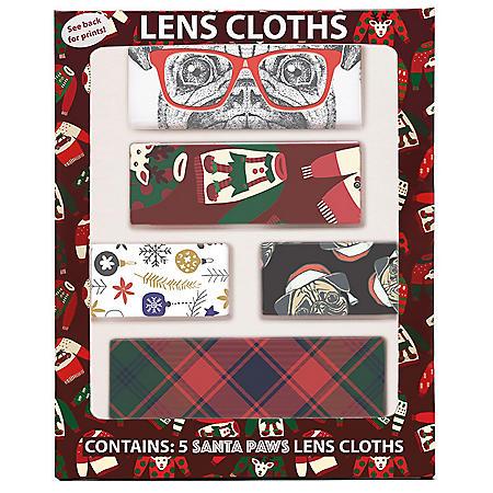 Santa Paws Holiday Lens Cloths (5 pk.)