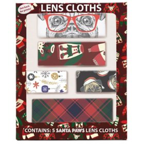 Santa Paws Holiday Lens Cloths (5 pk.)