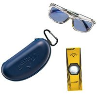 Callaway CA306 Gray Plastic Sunglasses with Case and Golf Ball Set