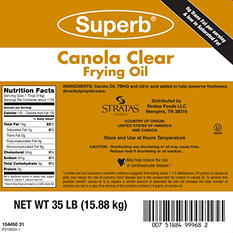 Superb Canola Clear Fry Oil (35 lb.)