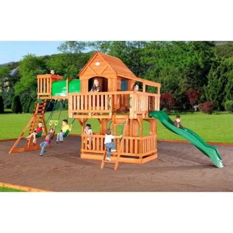 Woodridge Cedar Swing Set with Slide  Original Price $1,649.00 Save $50.00