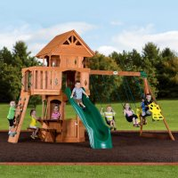 Backyard Discovery Woodland Cedar Swingset Deals