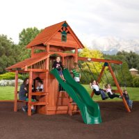 Deals on Backyard Discovery Everglade All-Cedar Swing Set / Playset