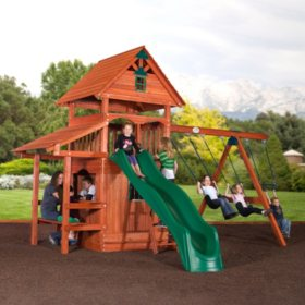 Backyard Discovery Everglade All-Cedar Swing Set / Playset