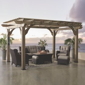 Backyard Discovery 14' x 10' Somerville Pergola With Electric