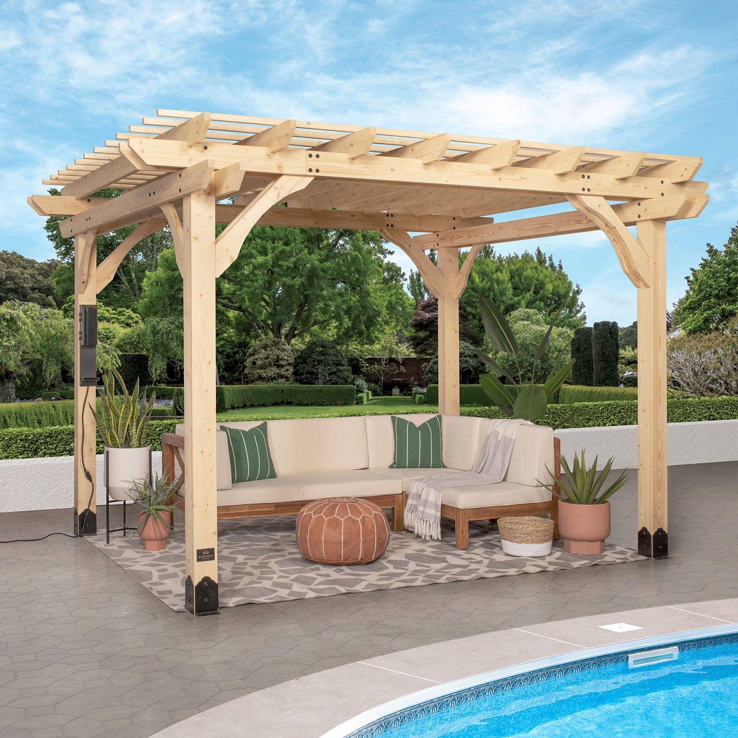 Backyard Discovery 12′ x 10′ Fairhaven Pergola with Electric