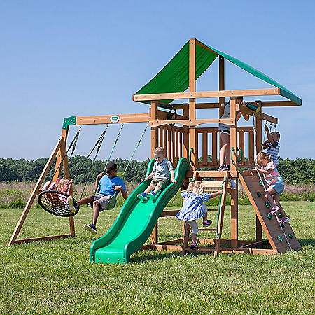 Backyard Discovery Grayson Peak Cedar Swing Set/Playset