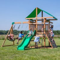 Deals on Backyard Discovery Grayson Peak Cedar Swing Set/Playset