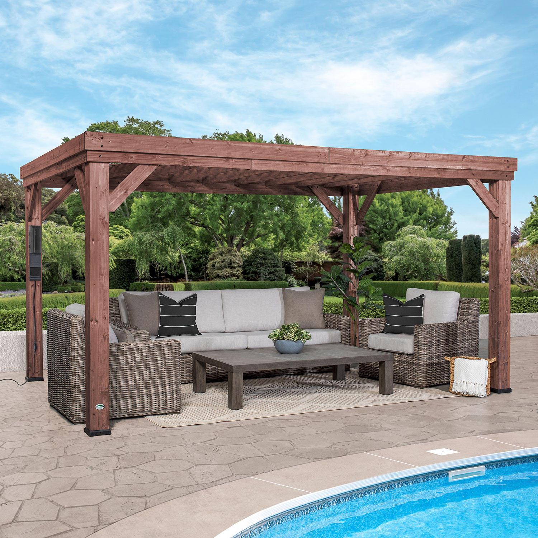 Backyard Discovery 14′ x 10′ Brockton Pergola with Electric
