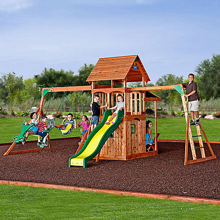 Toys & Hobbies Kids Indoor Outdoor Wooden Flat Swing Seat Backyard Garden Fun Playground Swingset Toy To Assure Years Of Trouble-Free Service Outdoor Fun & Sports
