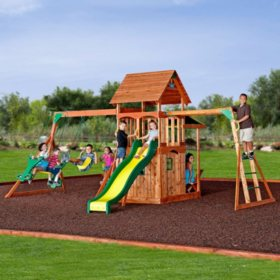 Backyard Discovery Saratoga Cedar Swing Play Set Sam S Club