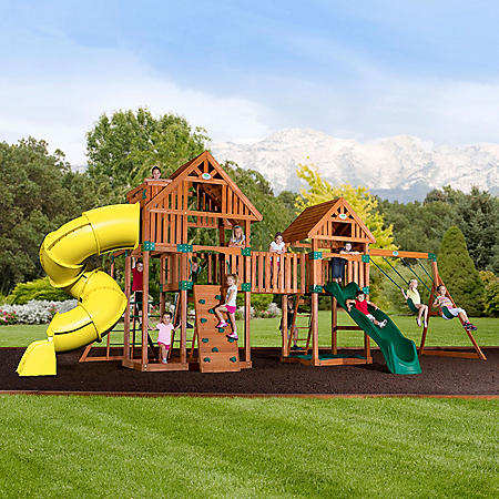 Backyard Odyssey Reno Cedar Playset Sams Club
