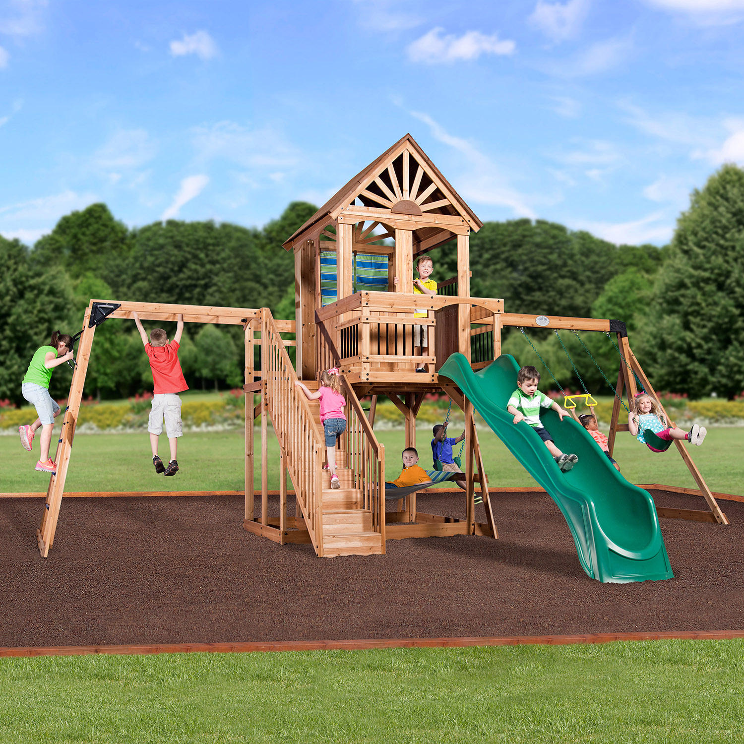 Backyard Discovery Oceanview Cedar Swing Set