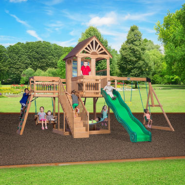 1399 00 Backyard Discovery Caribbean Cedar Swing Set