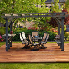 Backyard Discovery Oasis Pergola with Barnstain Finish, 14' x 10'