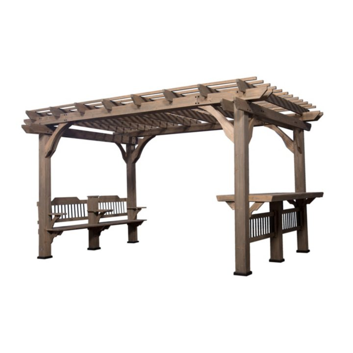 Backyard Discovery Oasis Pergola with Barnstain Finish, ... - Sam's Club - Backyard Discovery Oasis Pergola With Barnstain Finish