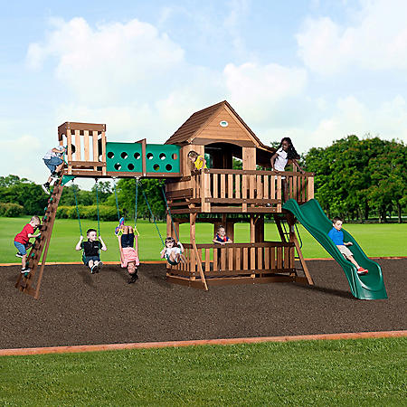 Backyard Discovery Woodridge Elite Cedar Swing Set