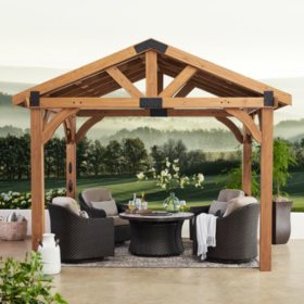 Backyard Discovery 12' x 10' Brookdale Gazebo With Electric