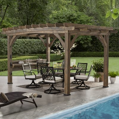 Backyard Discovery 14′ x 10′ Silverton Pergola with Electric Outlets
