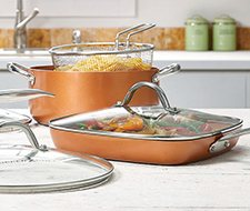 Copper Chef Pro 8 Piece Heavy Duty Cookware Set Sam S Club