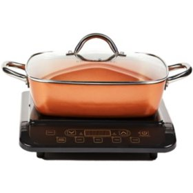 "Copper Chef Induction Cooktop with 11"" Casserole Pan (Assorted Colors)"