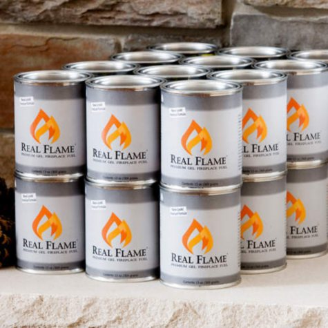 Real Flame Premium Fireplace Gel Fuel - 24 pack
