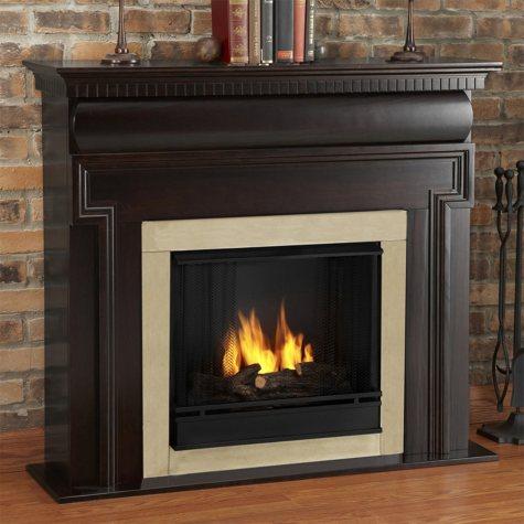 Mt. Vernon Ventless Gel Fireplace - Dark Walnut