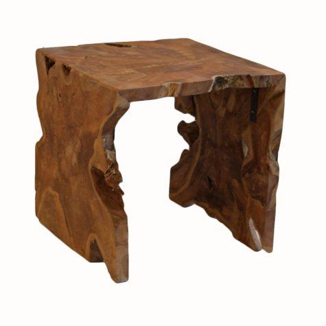 Teak Wood Square Side Table