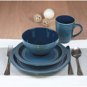 16-Piece Tara Dinnerware Set (Assorted Colors)