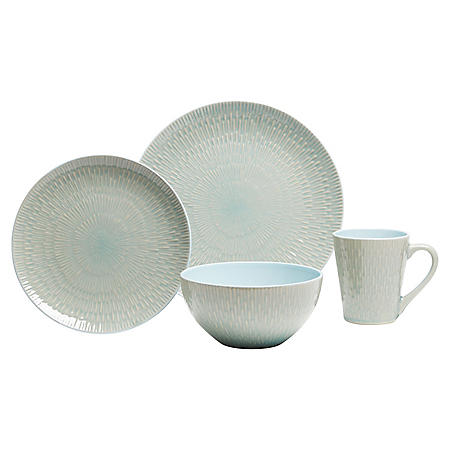 16-Piece Burst Dinnerware Set (Assorted Colors)