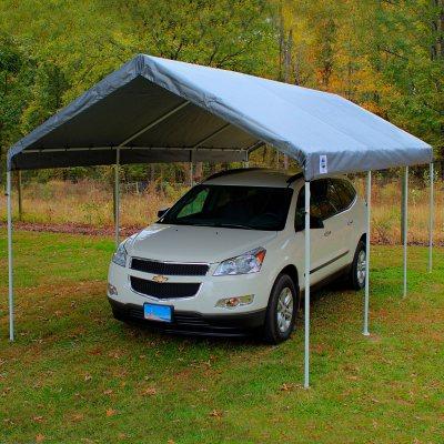 King Replacement Cover - Silver - 10u0027 x ... & Canopies u0026 Carport Tents - Samu0027s Club