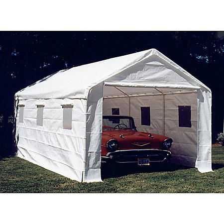 """10' 8"""" x 20' Enclosed Canopy with Sidewalls"""